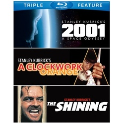2001: A Space Odyssey / A Clockwork Orange / The Shining Blu-ray Cover