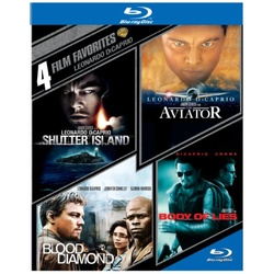 4 Film Favorites: Leonardo DiCaprio Blu-ray Cover