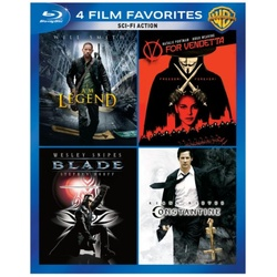 4 Film Favorites: Sci-Fi Action Blu-ray Cover