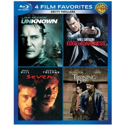 4 Film Favorites: Gritty Thrillers Blu-ray Cover