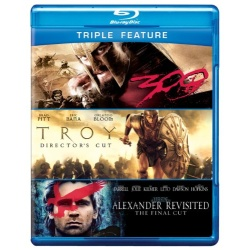 Alexander Revisited / Troy / 300 Blu-ray Cover