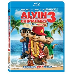 Alvin and the Chipmunks: Chipwrecked Blu-ray Cover