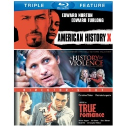 American History X / A History Of Violence / True Romance Blu-ray Cover