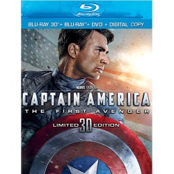 Captain America: The First Avenger (Limited 3D Edition) Blu-ray Cover