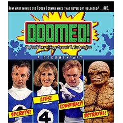 Doomed! The Untold Story of Roger Corman's The Fantastic Four Blu-ray Cover