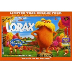 Dr. Seuss' The Lorax Blu-ray Cover
