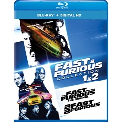 Fast & Furious Collection 1 & 2 - The Fast and the Furious / 2 Fast 2 Furious Blu-ray Cover