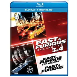Fast & Furious Collection 3 & 4 - The Fast and the Furious: Tokyo Drift / Fast & Furious Blu-ray Cover