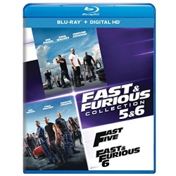 Fast & Furious Collection 5 & 6 - Fast Five / Fast & Furious 6 Blu-ray Cover