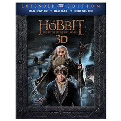 The Hobbit Battle of the Five Armies Extended Edition Blu-ray 3D