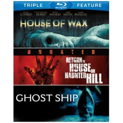 House of Wax / Return to House on Haunted Hill / Ghost Ship Blu-ray Cover