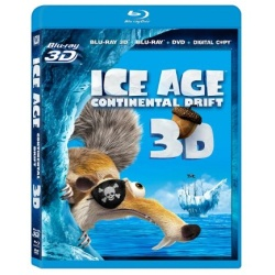 Ice Age: Continental Drift 3D Blu-ray Cover
