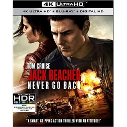 Jack Reacher: Never Go Back Blu-ray Cover