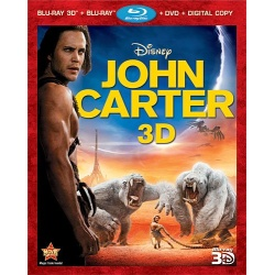 John Carter 3D Blu-ray Cover