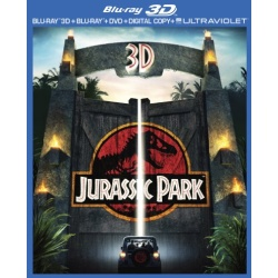 Jurassic Park 3D Blu-ray Cover