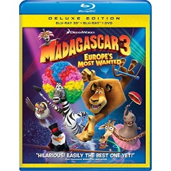 Madagascar 3: Europe's Most Wanted Blu-ray Cover