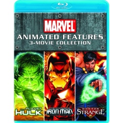 Marvel Animated Features: 3 Movie Collection Blu-ray Cover