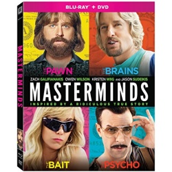 Masterminds Blu-ray Cover