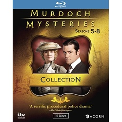 Murdoch Mysteries Collection: Seasons 5-8 Blu-ray Cover