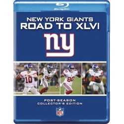 NFL New York Giants: Road to Superbowl XLVI Blu-ray Cover