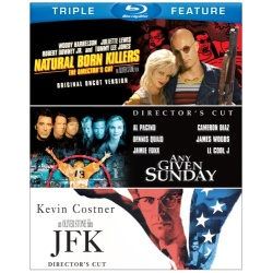 Natural Born Killers / Any Given Sunday / JFK Blu-ray Cover