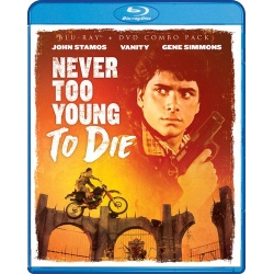 Never Too Young to Die Blu-ray Cover