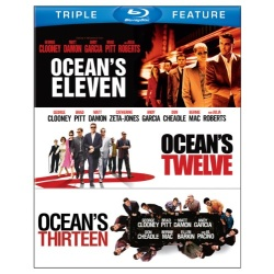 Ocean's Eleven / Ocean's Twelve / Ocean's Thirteen Blu-ray Cover