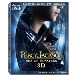 Percy Jackson: Sea of Monsters 3D Blu-ray Cover