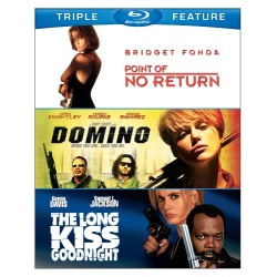 Point of No Return / Domino / The Long Kiss Goodnight Blu-ray Cover