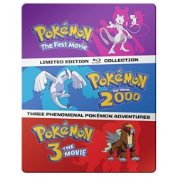 Pokemon: The First Movie / Pokemon: The Movie 2000 / Pokemon 3: The Movie Blu-ray Cover