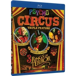 Psycho Circus: Triple Feature - 3 Rings of Terror Blu-ray Cover