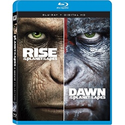 Rise of the Planet of the Apes / Dawn of the Planet of the Apes Blu-ray Cover