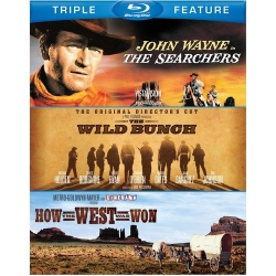 Searchers / The Wild Bunch / How The West Was Won Blu-ray Cover