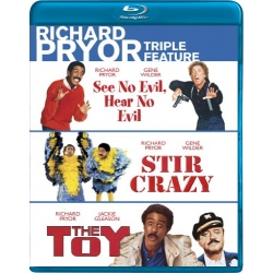 See No Evil, Hear No Evil / Stir Crazy / The Toy Blu-ray Cover