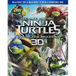 Teenage Mutant Ninja Turtles: Out of the Shadows 3D Blu-ray Cover