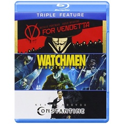 V For Vendetta / Watchmen / Constantine Blu-ray Cover