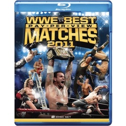 WWE: Best Pay-Per-View Matches of 2011 Blu-ray Cover