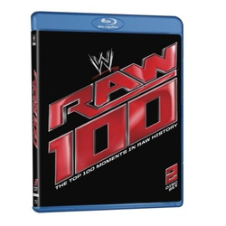 WWE: Raw 100 - The Top 100 Moments in Raw History Blu-ray Cover