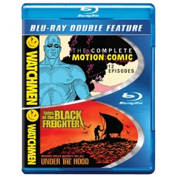 Watchmen: The Complete Motion Comic / Watchmen: Tales of the Black Freighter & Under the Hood Blu-ray Cover