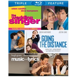 Wedding Singer / Going the Distance / Music and Lyrics Blu-ray Cover