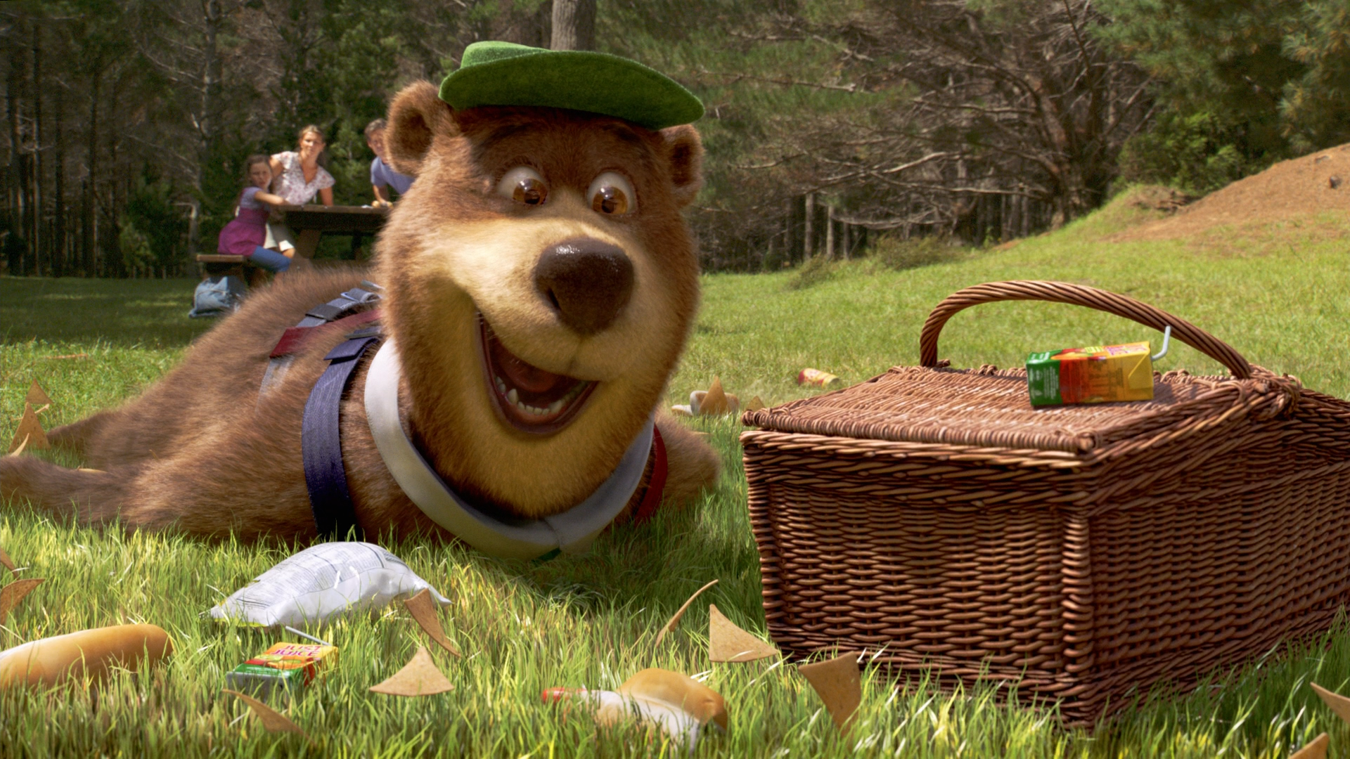 Yogi Bear Quotes Picnic Basket: Yogi Bear With Picnic Basket